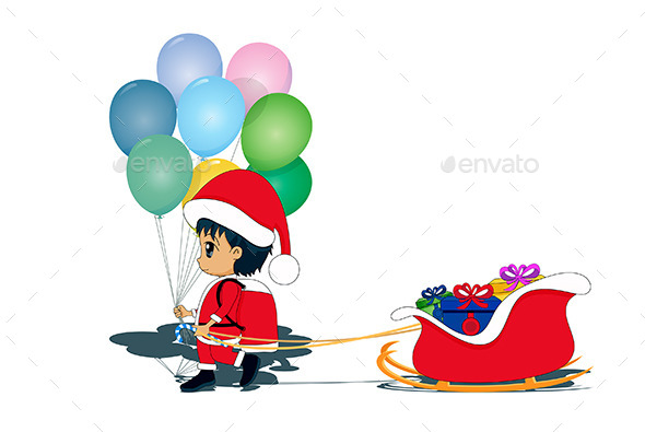 Child as Santa Claus - People Characters