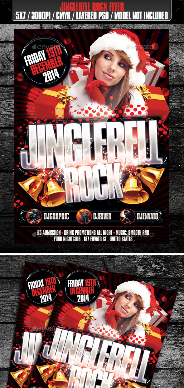Jinglebell Rock Club Flyer - Clubs & Parties Events
