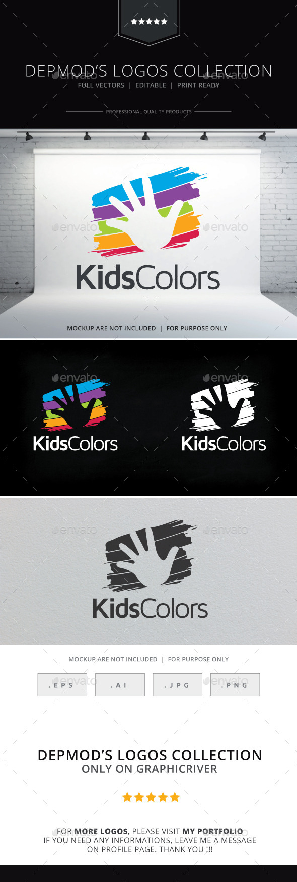 Kids Colors Logo - Symbols Logo Templates