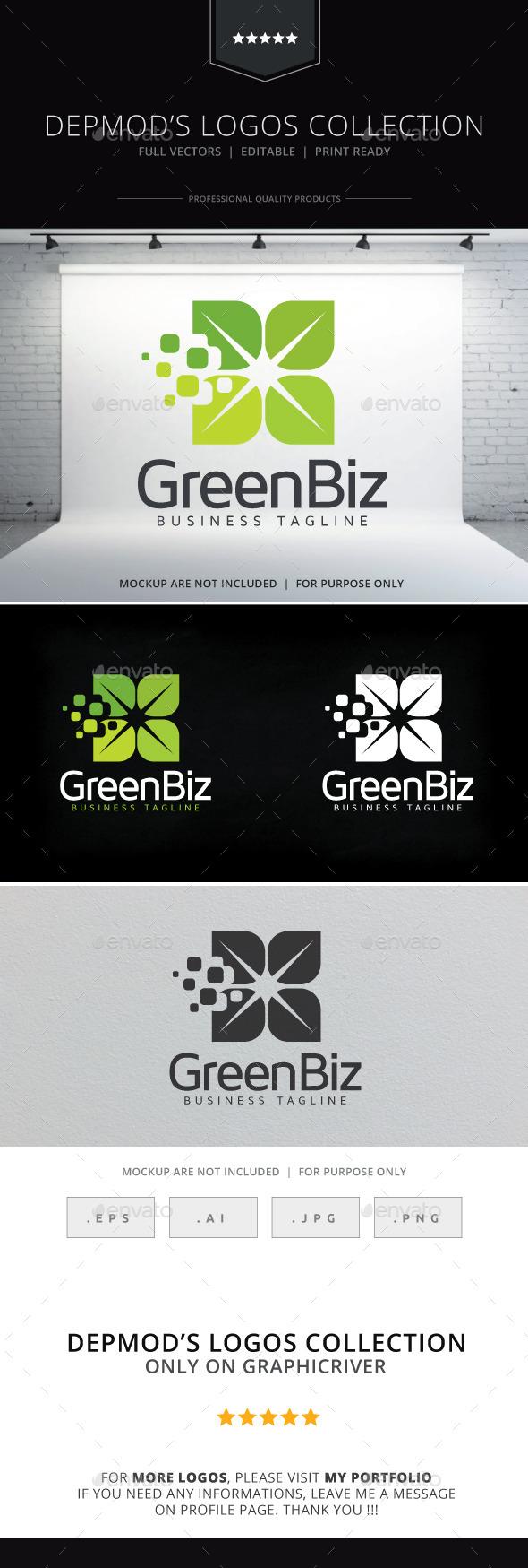 Green Biz Logo - Nature Logo Templates