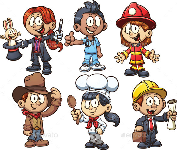 Kids Occupations - People Characters