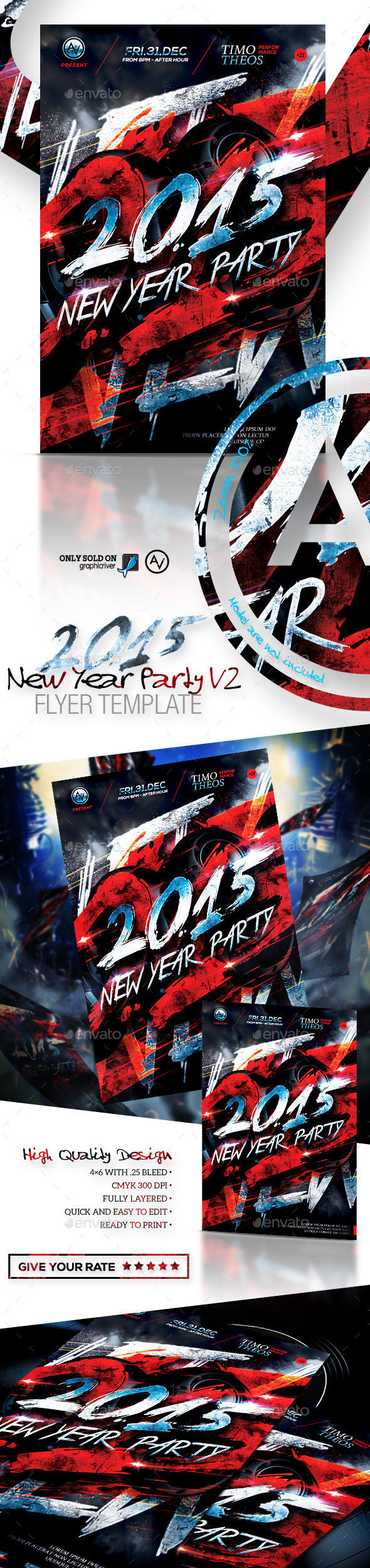 2015 New Year Party Flyer Template V2 - Clubs & Parties Events