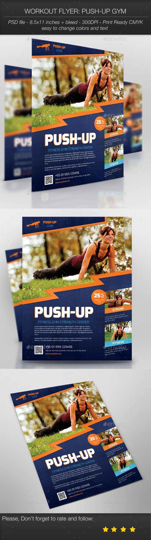 Workout Flyer: Push-Up Gym - Sports Events
