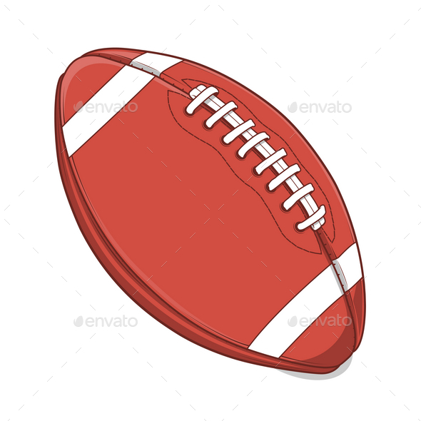 American Football Ball - Sports/Activity Conceptual