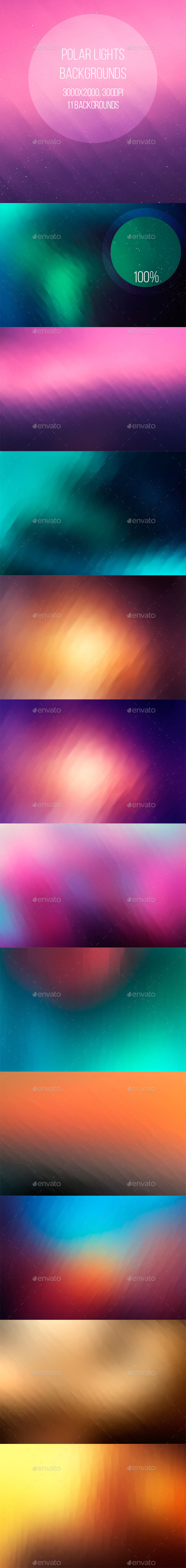 Polar Lights Backgrounds - Abstract Backgrounds