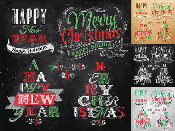 Merry Christmas and New Year collection - Christmas Seasons/Holidays