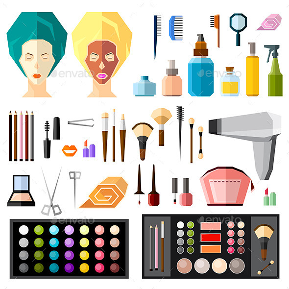Beauty and Fashion Items Set - Miscellaneous Conceptual