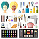 Beauty and Fashion Items Set - GraphicRiver Item for Sale