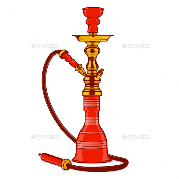 Shisha with Pipe - Man-made Objects Objects