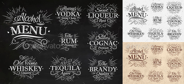 Alcohol Menu - Food Objects