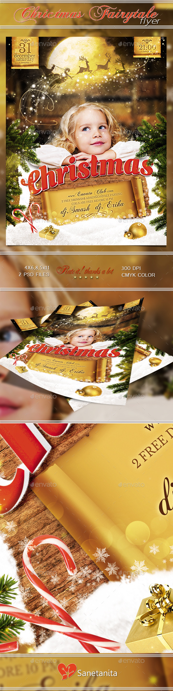 Christmas Fairytale Flyer - Holidays Events