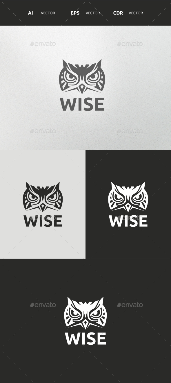 Wise - Animals Logo Templates