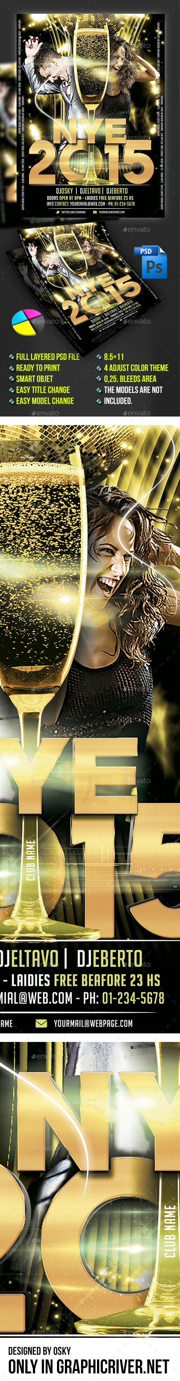 New Year Eve VI - Events Flyers