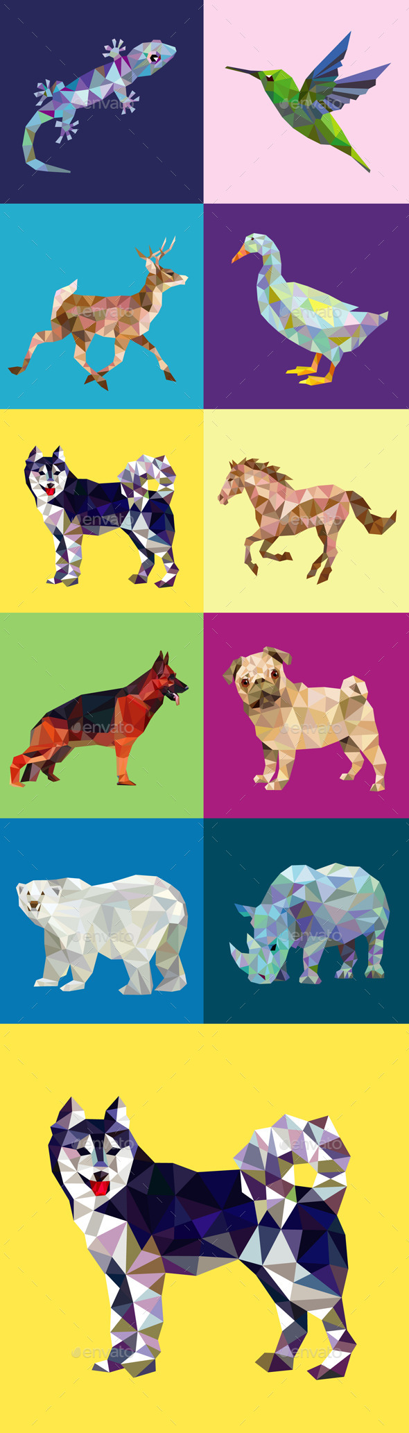 10 Low Poly Animal Series 2 - Animals Characters