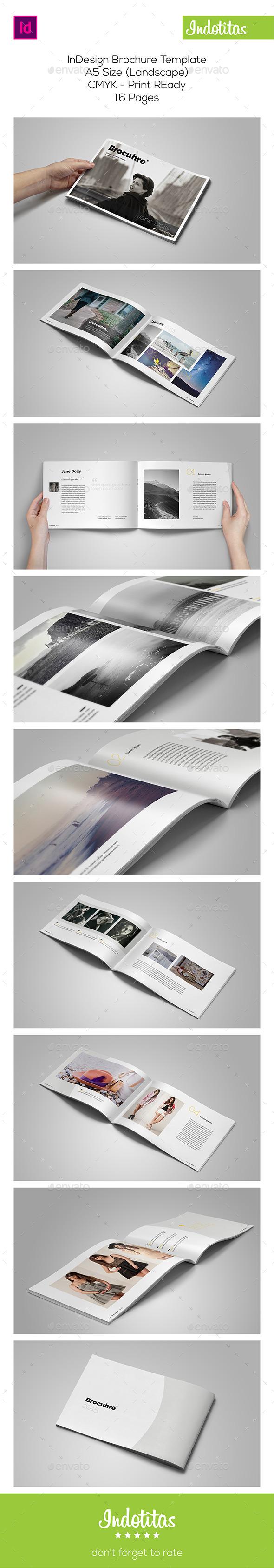 A5 Portfolio Catalog Template - Portfolio Brochures