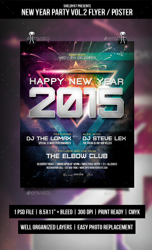New Year Party Flyer / Poster Vol.2 - Events Flyers