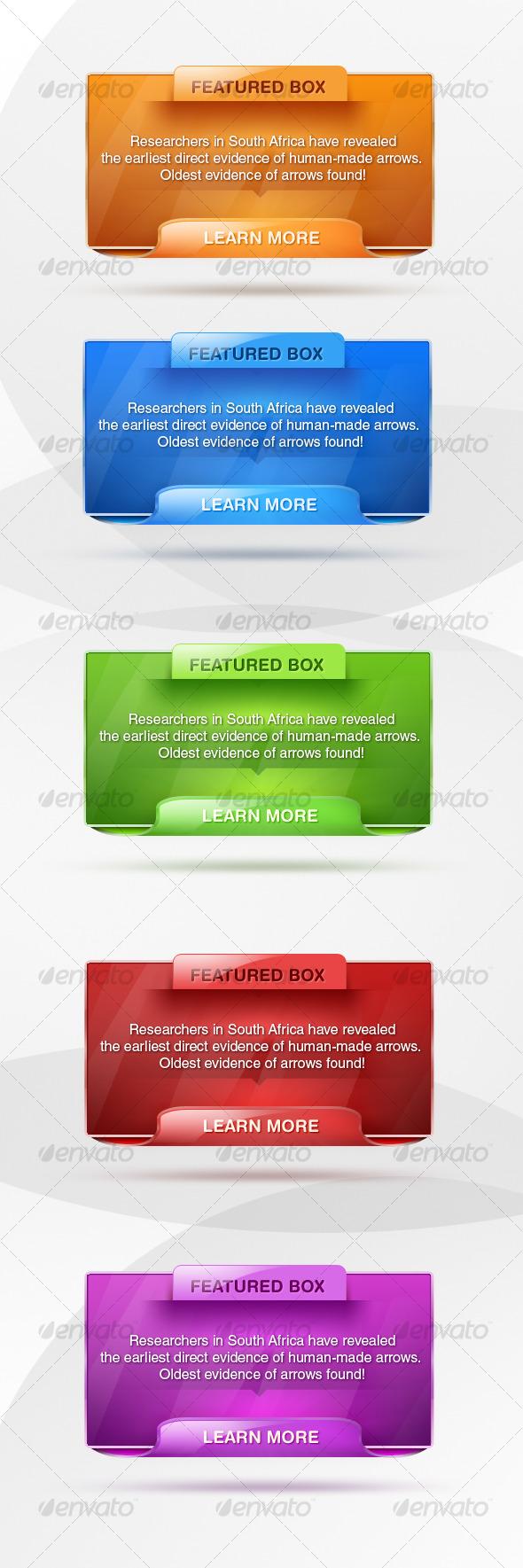 Modern web boxes - Web Elements