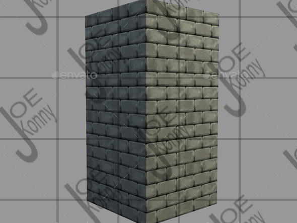 Stone Tile - 3DOcean Item for Sale