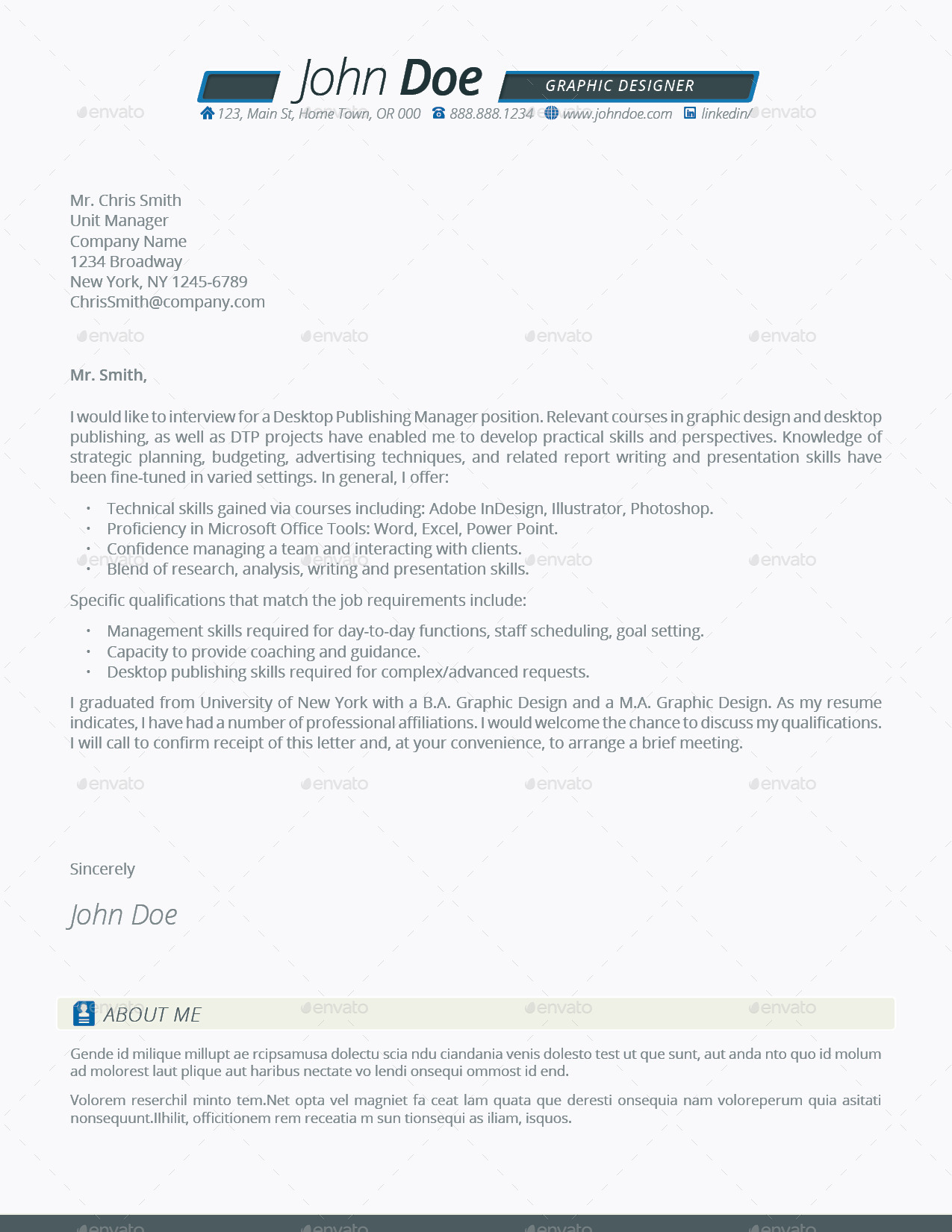 ... Preview Image Set/Letter TrueB Resume Template4 ...  Resume Deal