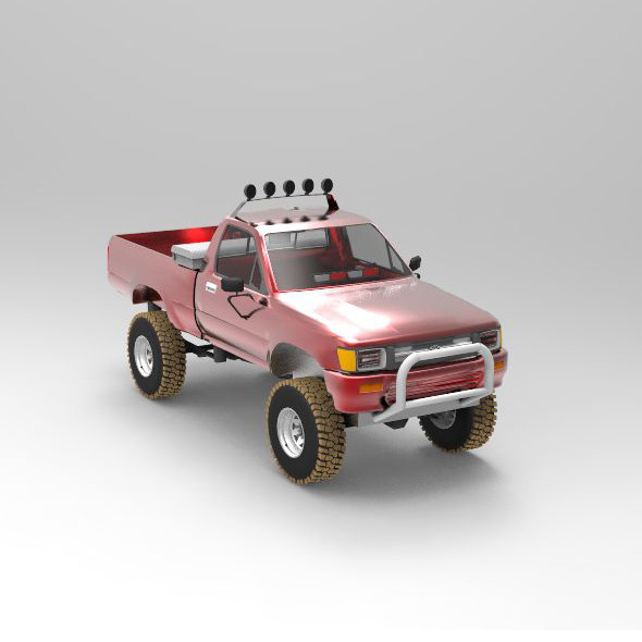 Concept Car Toyota Pickup Fire POV - 3DOcean Item for Sale
