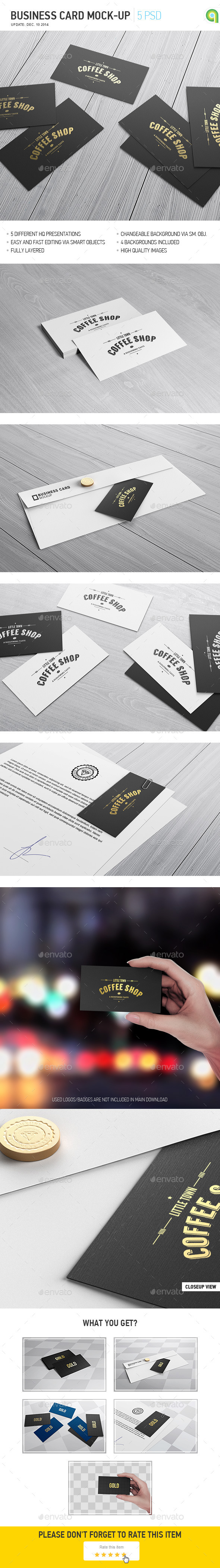 business card mockup by ayashi