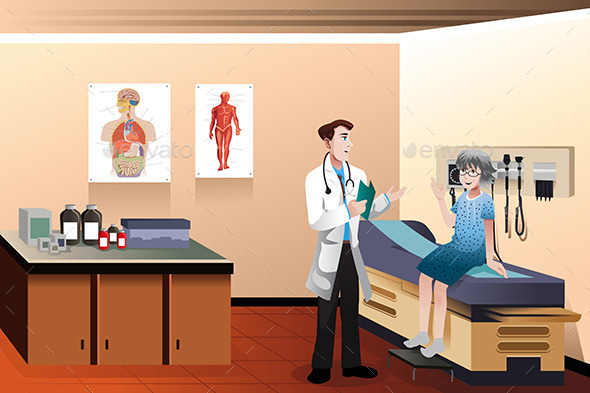 Doctor Patient in the Clinic - Health/Medicine Conceptual