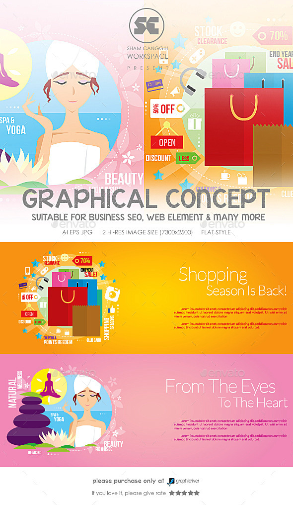 Flat Concept For Shopping & Spa - Miscellaneous Conceptual