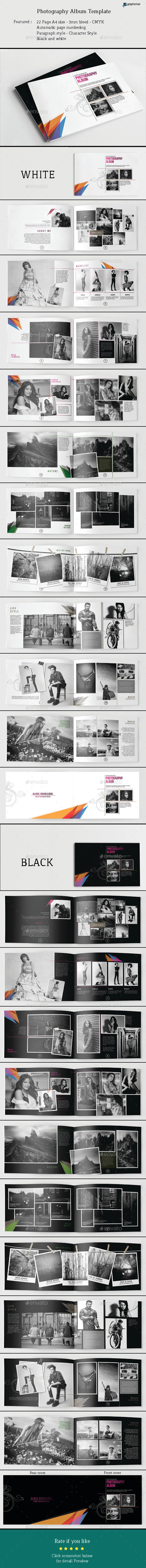Photography Album Template - Photo Albums Print Templates
