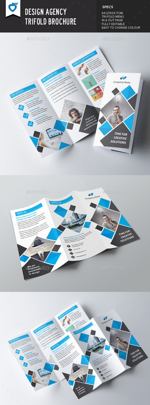 Design Agency Trifold Brochure - Corporate Brochures