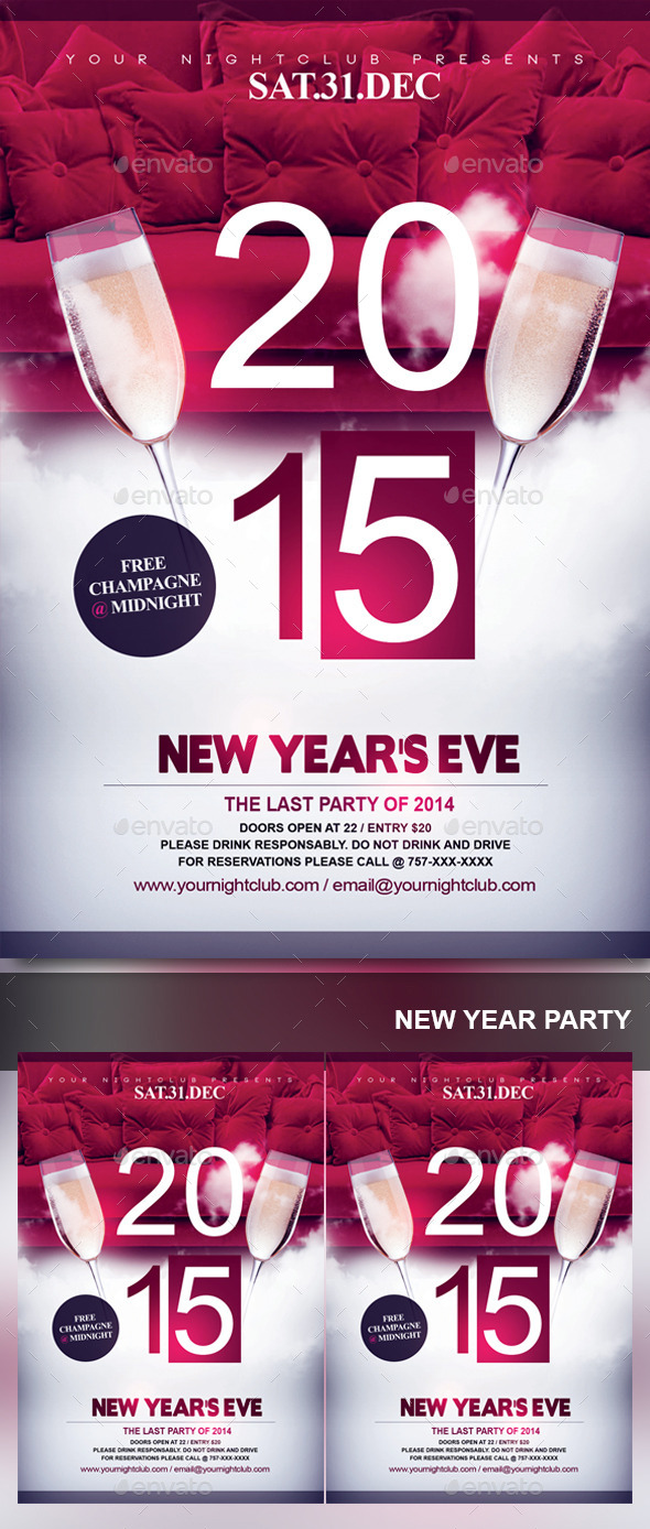 NYE 2015 - Events Flyers