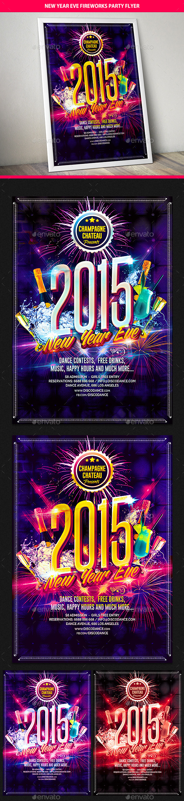 New Year Eve Celebration Party Flyer - Clubs & Parties Events