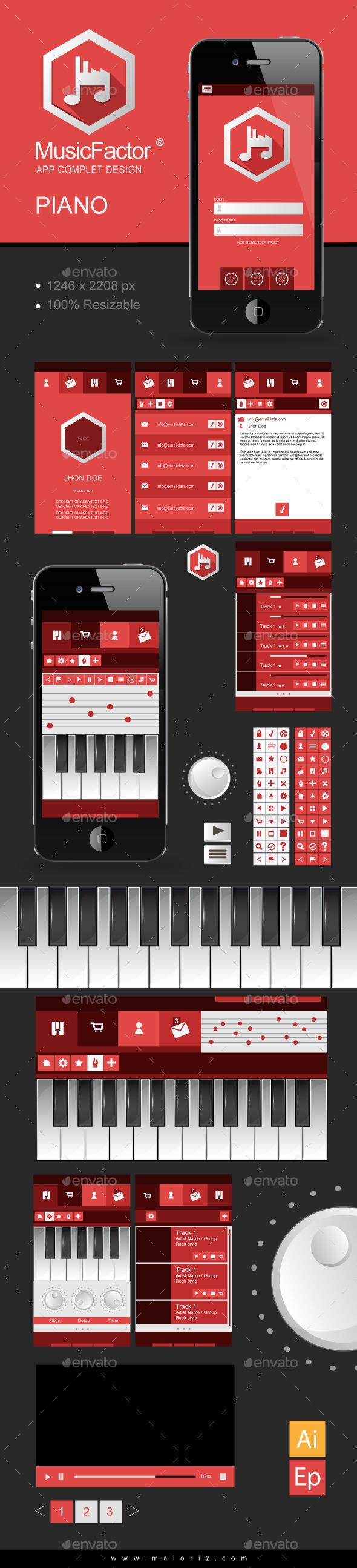 Music App Vector Ui - Web Elements Vectors