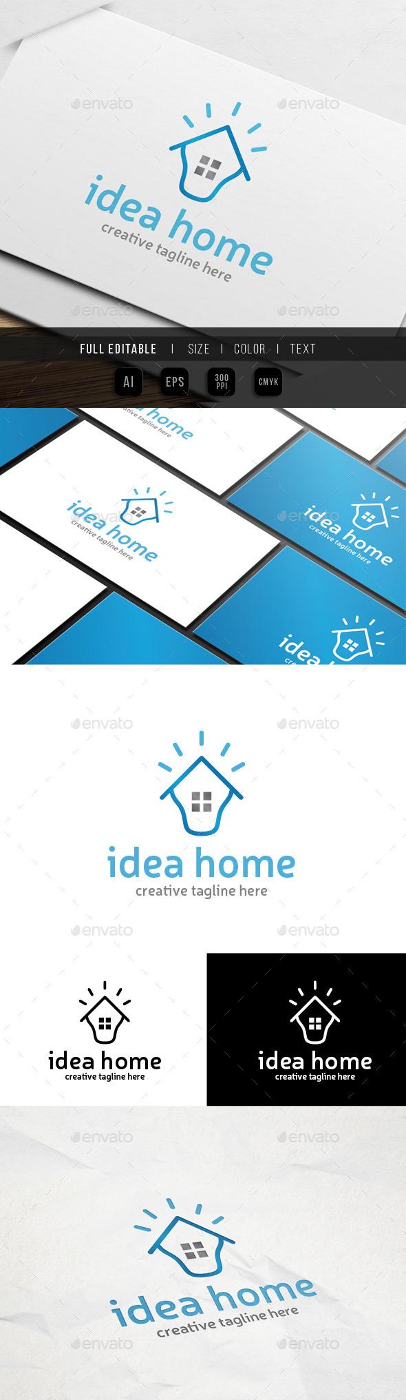 Idea Home Logo - Abstract Logo Templates