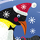 Snowing Globe with Family of Three Penguins - GraphicRiver Item for Sale