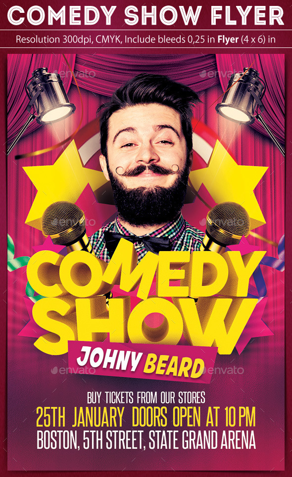 Comedy Show Flyer By Grapulo  Graphicriver