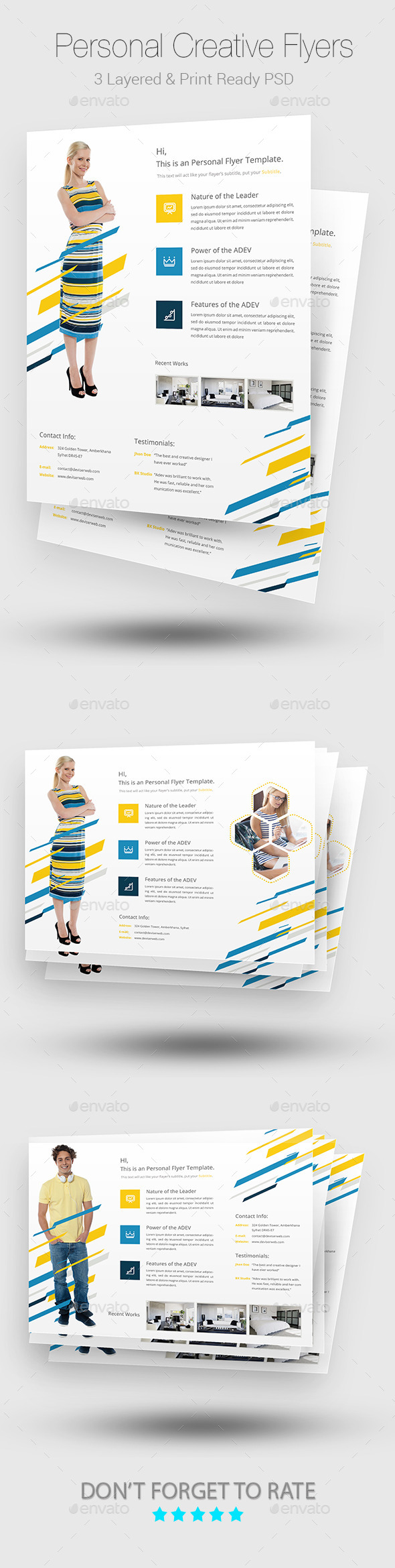 Creative Personal Flyer Templates - Corporate Flyers