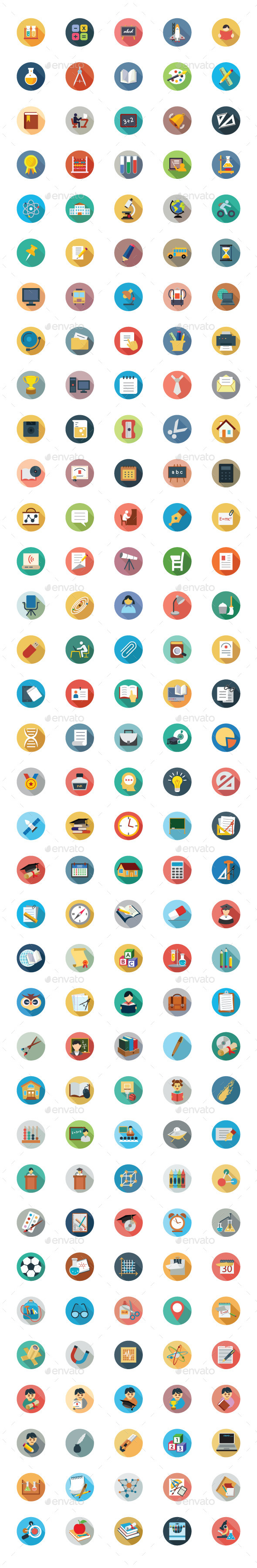 175 Education Vector Icons - Icons