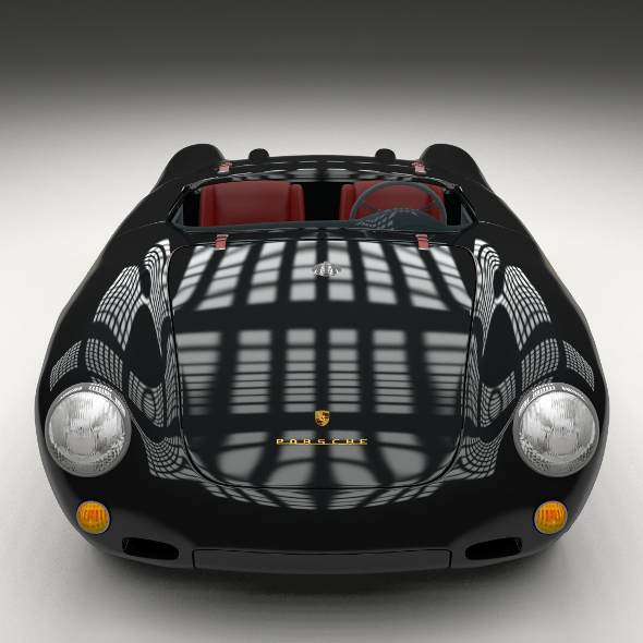 Porsche 550 Spyder black  - 3DOcean Item for Sale