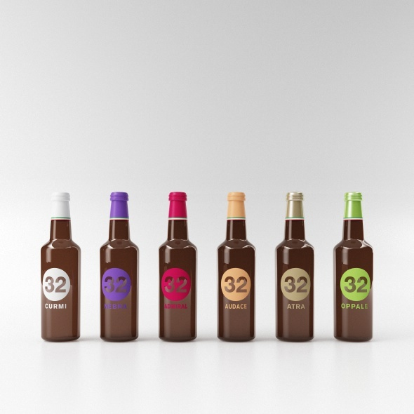 beer bottle collection C4D + vray - 3DOcean Item for Sale