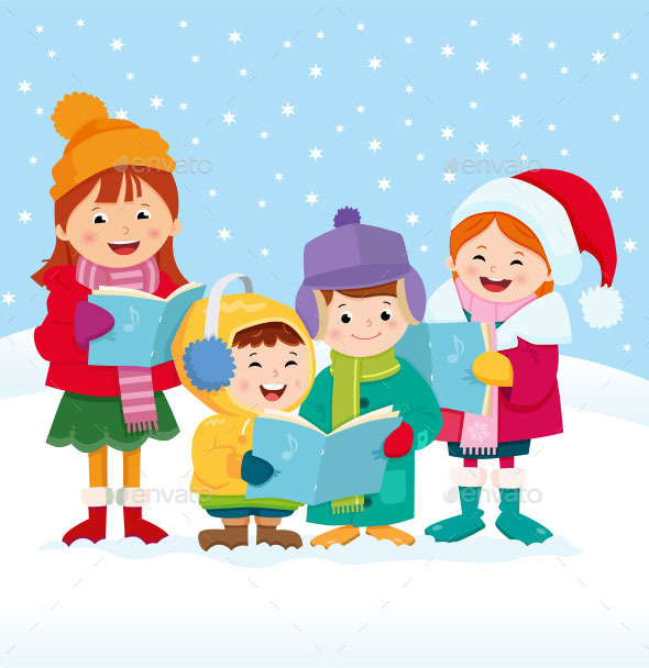 Christmas Carol Singers - People Characters