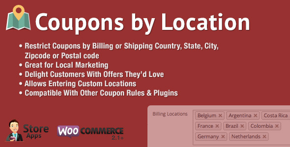 WooCommerce Coupons by Location - CodeCanyon Item for Sale