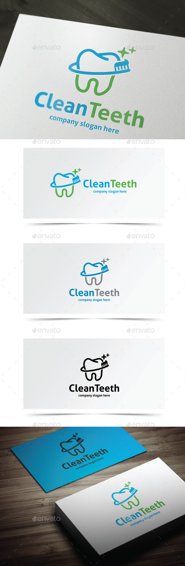 Clean Teeth - Objects Logo Templates