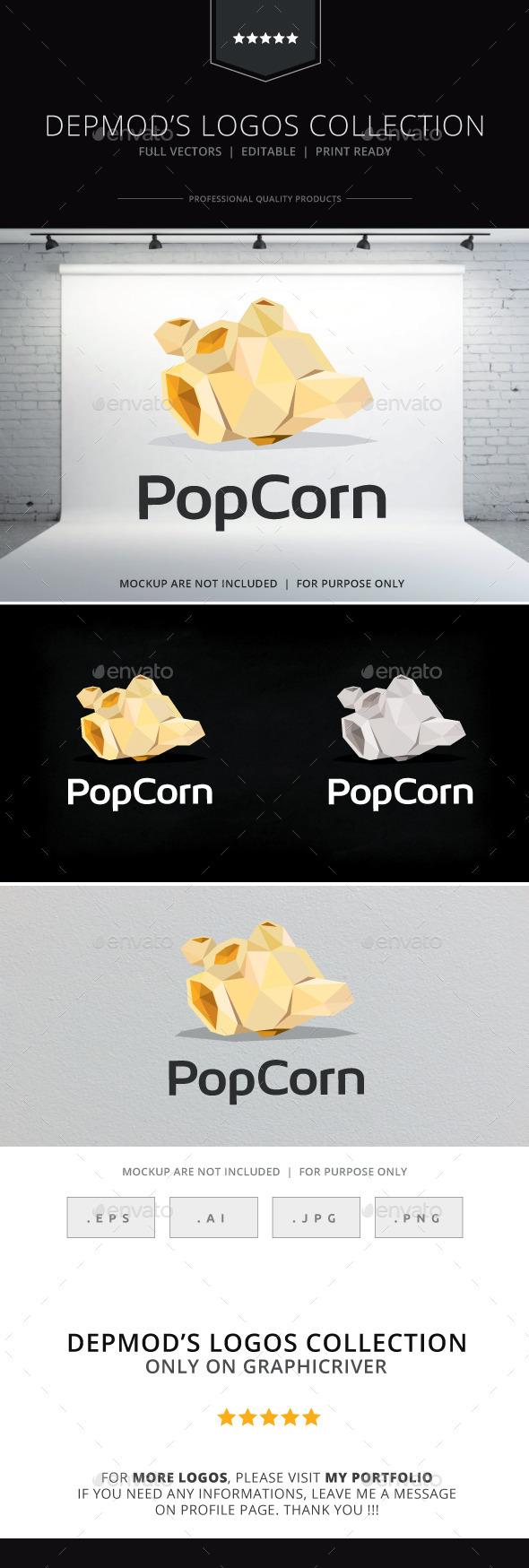 Pop Corn Logo - Food Logo Templates