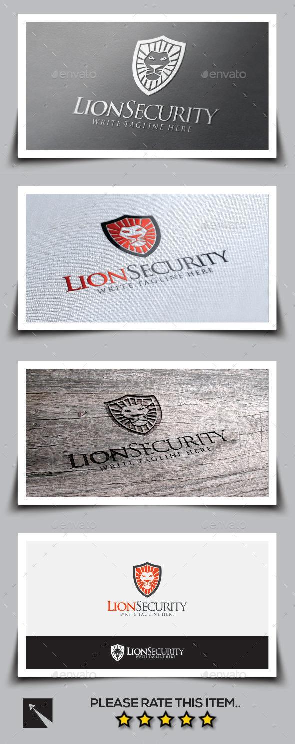 Lion Security Logo Template - Animals Logo Templates