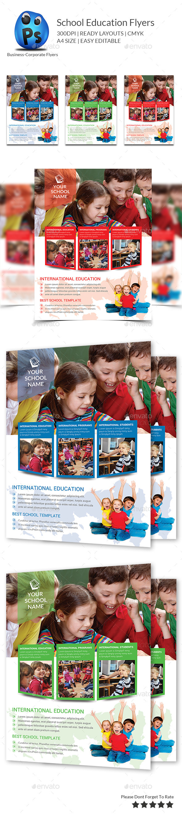 Junior School Education Flyer Template - Flyers Print Templates