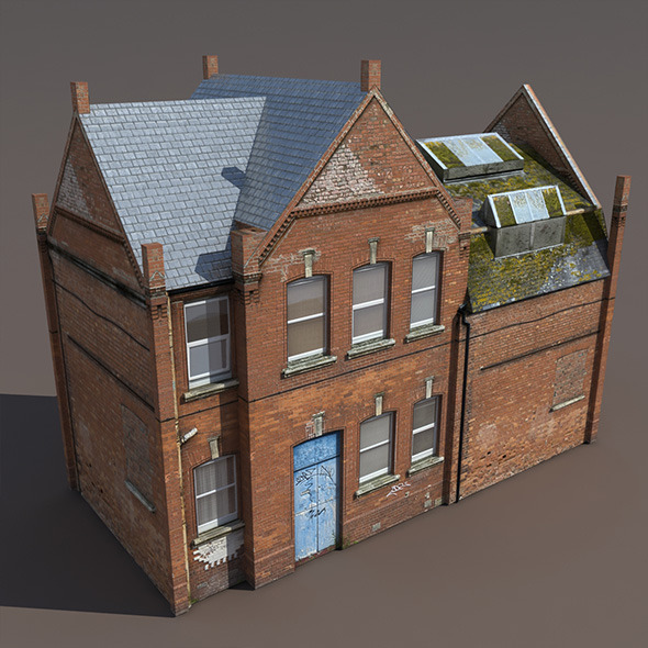 Old House Low poly 3d Model - 3DOcean Item for Sale