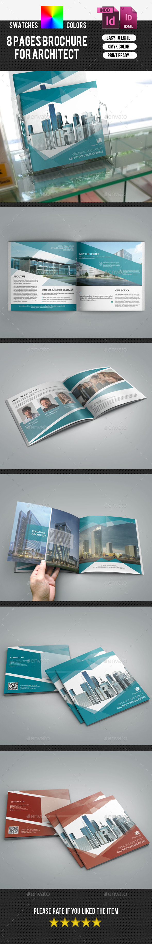 Corporate Square Bifold Brochure-V175 - Corporate Brochures