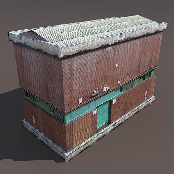 Factory Low poly 3d Building - 3DOcean Item for Sale