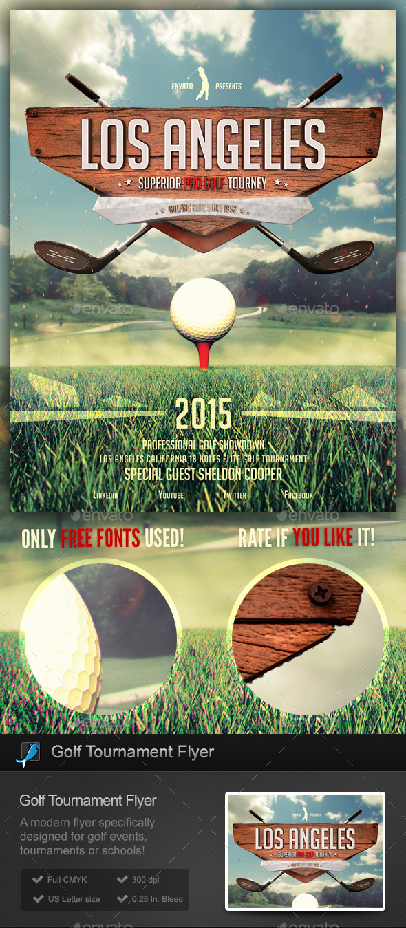 Golf Tournament / School Flyer Template - Sports Events