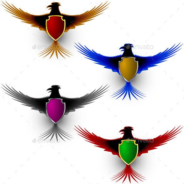 Bird Eagle Honor Shield Sign - Decorative Symbols Decorative